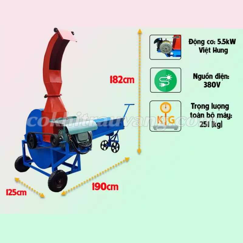 Máy thái chuối công nghiệp 5,5kW